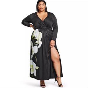 NWT Altuzarra Target Orchid Satin Maxi dress